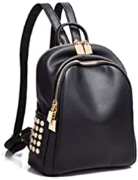 Brothers House Mochila de Mujer pequeña Mochila Impermeable Casual (Color : BlackC, Tamaño :