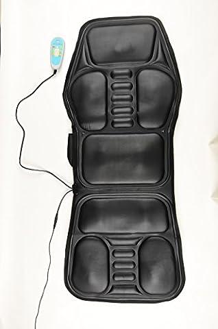 Siège auto masseur Coussin de massage avec 9nodes Thérapie par la chaleur Coussin masseur Vibrant pour Calmer et soulage les douleurs dorsales, épaules et