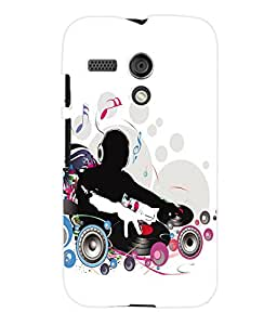 Fuson 3D Printed Live DJ Designer Back Case Cover for Motorola Moto G - D696