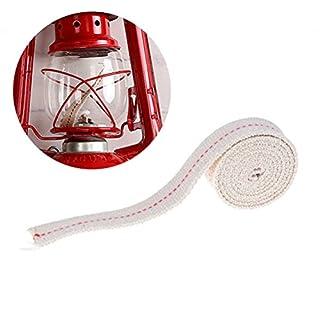 jettingbuy 2Baumwolle Flachdocht Rolle für Paraffin Öl oder Kerosin Laternen und Grundlage von Öl Lampen mit echtem Rot Stitch Superior Qualität