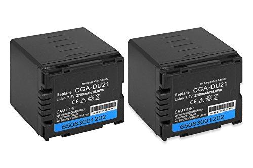 2x Akku CGA-DU21 für Panasonic NV-GS10, GS17, GS21, GS22, GS24, GS26...siehe Liste