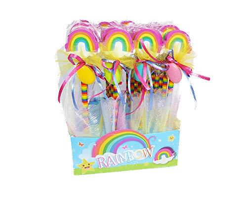 Zelda Bomboniere - 24 lápices de Goma Arcobaleno Decorados con Caja Rainbow Confirmación