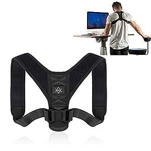 MR Goods Haltungskorrektur Gurt zur Behebung von Rundrücken – Schulterhalter als Hilfsmittel gegen eine hängende Rückenhaltung – aufrechte Körperhaltung und gerader Rücken dank der Rückenstütze