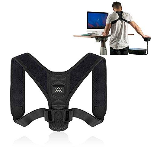 MR Goods Haltungskorrektur Gurt zur Behebung von Rundrücken - Schulterhalter als Hilfsmittel gegen eine hängende Rückenhaltung - aufrechte Körperhaltung und gerader Rücken dank der Rückenstütze (Größe M (80-125cm))