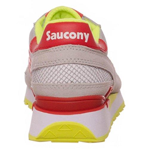 Saucony Shadow Original, Scarpe da Ginnastica Basse Uomo Grey/Red