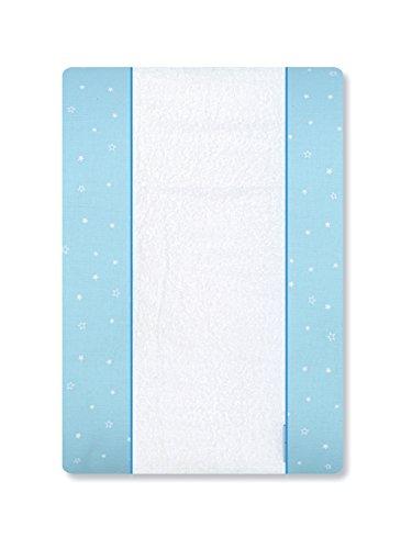 Petite stars 36022813 - Cambiador bañera, diseño nube, 50 x 70 cm, color blanco y azul
