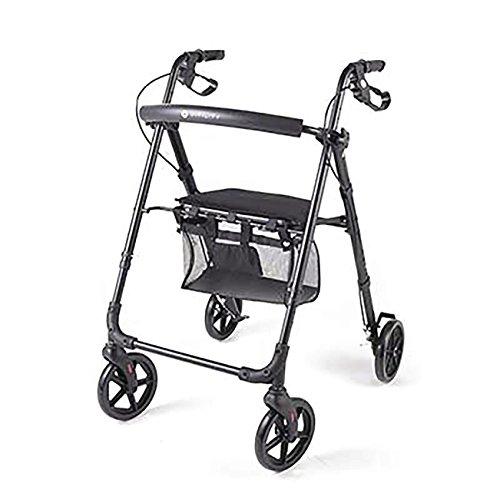 Eurosell - Premium Faltbarer Rollator Gehhilfe Senioren Gehwagen Geh Hilfe Wagen rot schwarz klappbar faltbar
