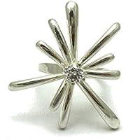 Anello stravagante da Donna in Argento 925 com 5mm Cubic Zirconia R001637
