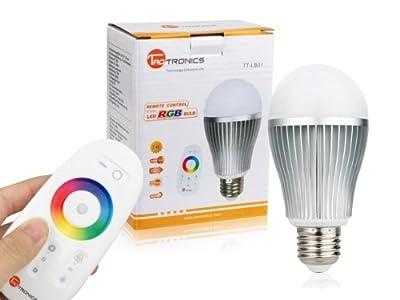 Tao Tronics Tt-lb01 6w E27 Rgb Led Lampe Glhbirne Wifi Wlan 24g Fernbedienung Touch Fernbedienung Dimmbar Speicherfunktion von ZBT International Trading GmbH