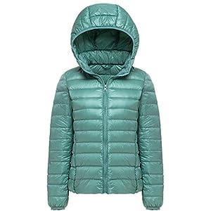 Mochoose Donna Inverno con cappuccio Giù Giubbotto imbottito cappotto Packable ultra leggero 1 spesavip