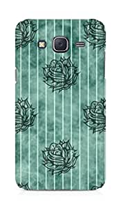 Amez designer printed 3d premium high quality back case cover for Samsung Galaxy J5 (Striped Flowers Pattern)