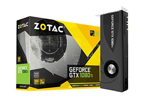 Zotac GeForce GTX 1080 Ti Blower 11 GB GDDR5X - Tarjeta gráfica (GeForce GTX 1080 Ti, 11 GB, GDDR5X, 352 bit, 11000 MHz, PCI Express x16 3.0)