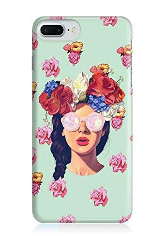 COVER Hipster girl Blume Handy Hülle Case 3D-Druck Top-Qualität kratzfest Apple iPhone 7 Plus