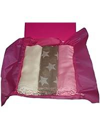 3 pièce Gift Set 1 Crème Pashmina / 1 Vert Broderie écharpe / 1 Light Pink Pashmina