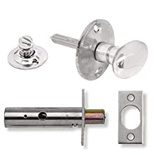 Yale P-M44T-CH Door Security Bolt with Thumbturn, Chrome Finish, Standard Security, Visi Packed, suitable for hinged and wooden doors