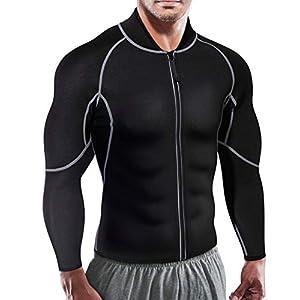 Herren Hot Sweat Neopren Lange Ärmel Tank Top Sauna Anzug Sport Männer Shirt Body Shaper Gym Shapewear