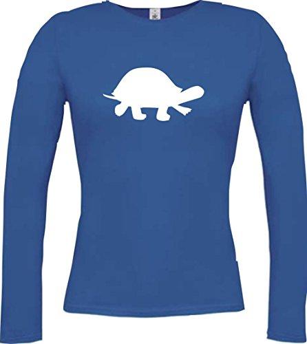 Crocodile lady t-shirt à manches longues motifs naturel wildness tierbilder motif écaille de tortue, plusieurs coloris taille xS à xXL Bleu - Bleu roi