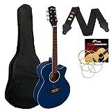 Tiger kleinen Körper Akustische Gitarre für Anfänger Gitarre-Blau