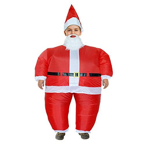 DMMASH Aufblasbares Weihnachtsmann-Kostüm Für Weihnachts-Cosplay (Kids)