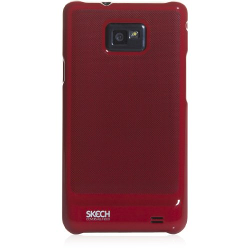 Skech SKS1347 Glaze Snap On Cover für Samsung i9100 Galaxy S II rot Galaxy Glaze