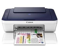 Canon Pixma E417 All-in-One InkJet Printer (White/Black)