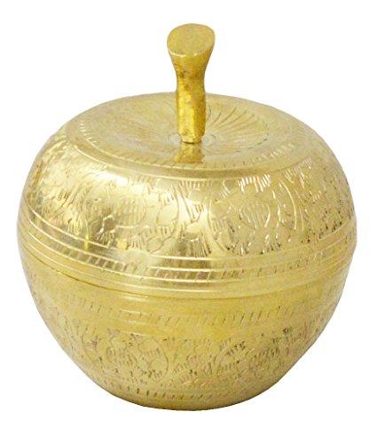 Zap Impex ® Messing Apfel geformte goldene Schüssel mit Deckel / bester gelegentlicher Geschenk
