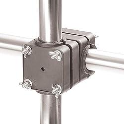 Support parasol balcon Sunnyman - Protection solaire flexible dans un espace réduit - Support de fixation parasol pour les manches de Ø 28 à 45mm - Pied de parasol Made in Germany