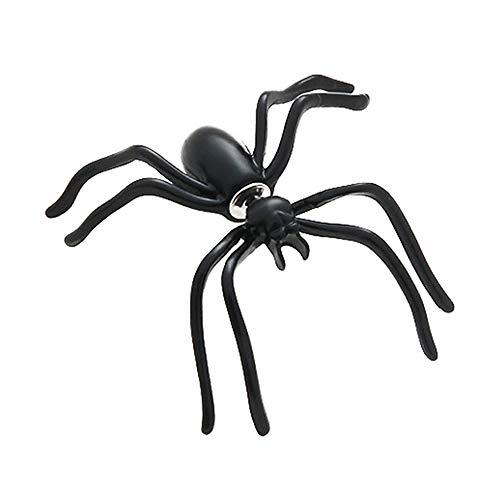 (KDSANSO Halloween OhrsteckerPiercingSet,1 Paar Hot Fashion Damen Halloween Schwarze Spinne Charme Ohrstecker Ohrringe Schmuck,Schwarz 3.5 * 3.5cm)