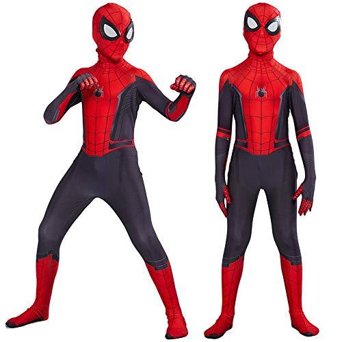 YXRL Spiderman Body Polyester Overalls Captain Kostüm Erwachsene Kind Weihnachten Halloween Show Cosplay Kostüm Red-Child - Top Kostüm Drama Serie
