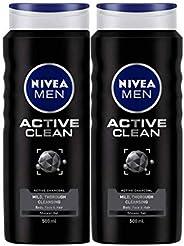NIVEA Active Clean Shower Gel, 500 g (Pack of 2)