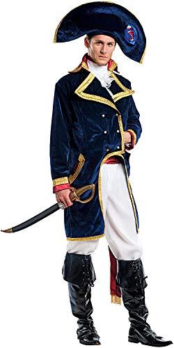 Costume di carnevale da napoleone vestito per uomo adulti travestimento veneziano halloween cosplay festa party 5063 taglia l