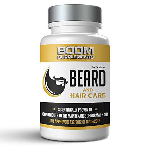 41ctvvr3foL - best buy# Beard Growth Supplement And Facial Hair Supplement for Men! *BEARD ENVY* By BOOM SUPPLEMENTS - #1 PROVEN Beard Growth Supplement. It Provides a *Fuller Beard, *INCREASED hair condition, & *MORE Hair Growth *Powerful Nutrients that WORK *100% Money Back GUARANTEED!* - 60 Maximum Strength Hair Growth Tablets - *1-2 Months Supply *Manufactured In The UK! Reviews