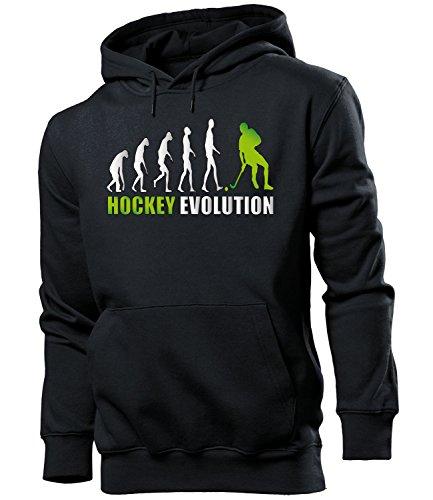 HOCKEY EVOLUTION 618 Herren Hoodie (HKP-SW-Weiss-Grün) Gr. XL