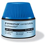 Staedtler - LumoColor 487 05 - Flacon Recharge 20 ml pour Feutre Effaçable à Sec 305 Bleu