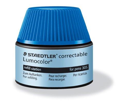 Staedtler Lumocolor Refill Station – Tinta de recambio para bolígrafos y plumas, azul