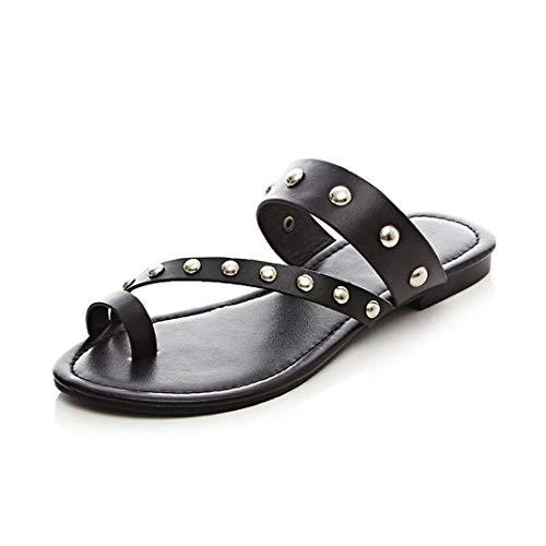Frauen Ring Open Toe Rutsche Sandalen Slip on Thong Flip Flops Hausschuhe Anti-Rutsch Flatform Sommer Strand Schuhe -
