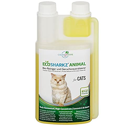 Best Cat Urine Remover - Cleans Litter Tray: Ecosharkz ANIMAL