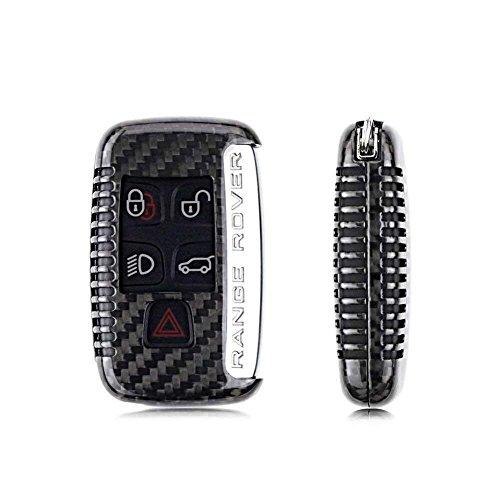 FancyAuto Hülle Autoschlüssel Keyless Schlüssel Schutzhülle Schlüsselhülle Cover Auto für Jaguar XE XP XJ(Black, Carbon Fiber)