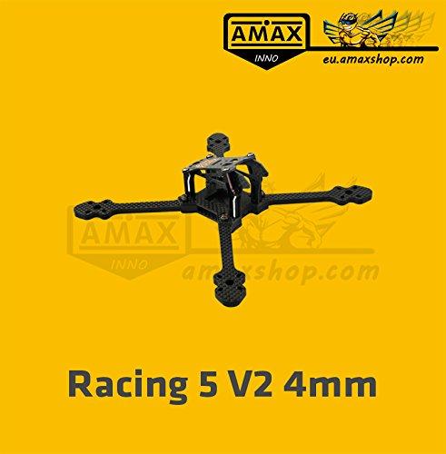AMAXinno Racing 5 V2 (190mm) 5 Zoll FPV Racing Carbon Frame Quadrocopter Drohne Rahmen
