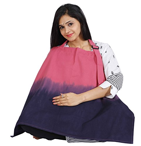 Lulu Mom Nursing Cover for Breastfeeding Privacy EXTRA WIDE for Full Coverage - Breathable 100% Cotton , Stylish and High Quality