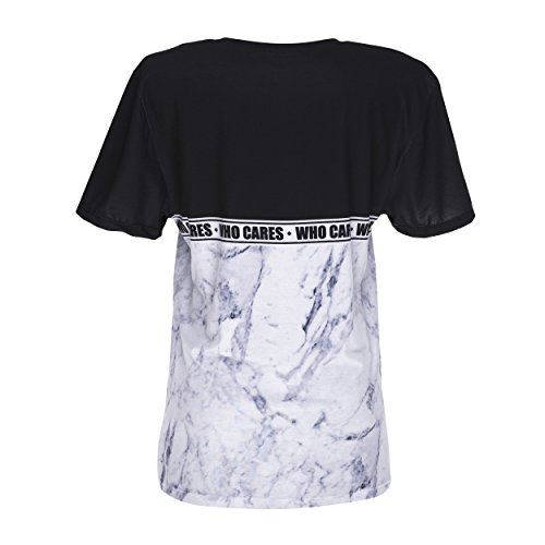 Who Cares oversize T-shirt Fullprint One Size Marble