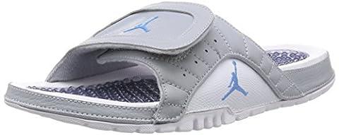 Nike Mens Jordan Hydro XII Retro Grey White Leather Sandals 41 EU