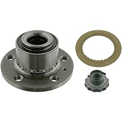 febi bilstein 24414 Wheel Bearing Kit with wheel hub, ABS sensor ring and axle nut, pack of one