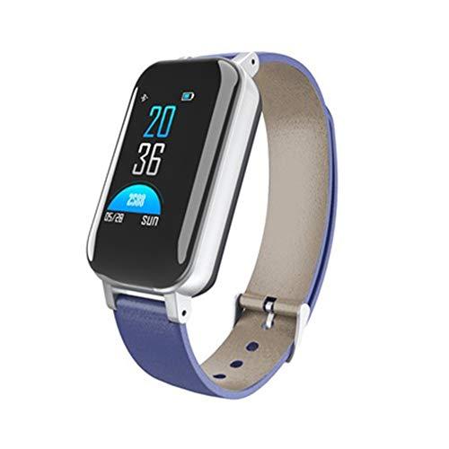 Intelligente binaurale Armbanduhr Bluetooth Headset 2 in 1 Farbdisplay Anruf Herzfrequenz Blutdruck Schlafüberwachung Schritt Handgelenk Band Armband Frauen Kinder Männer Geschenke Geschenk für Fam