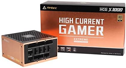 Antec HCG-1000-EXTREME SMPS - 1000 Watt 80 Plus Gold Certification Fully Modular PSU with Active PFC(0-761345-11559-9)