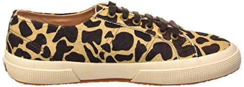 Superga 2750-Leahorseu, Chaussures de Gymnastique Mixte Adulte Multicolore (L77 Beige-Dk Brown Fow)