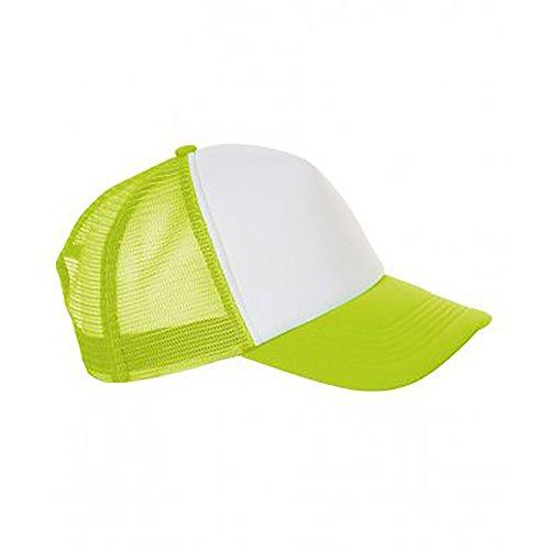 SOLS Unisex Bubble Kontrast Kappe (Einheitsgröße) (Weiß/Neon Grün)