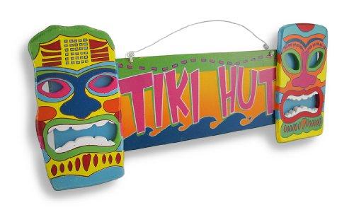 Luminoso e colorato 'surf Shack' Tiki maschere da appendere alla parete - Tiki Bar Della Decorazione Della Parete