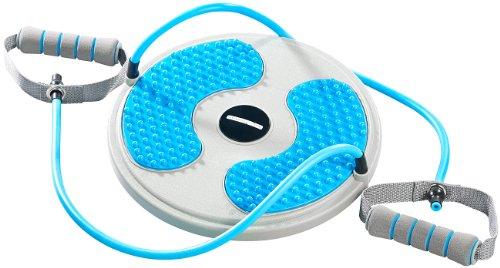PEARL sports Hüft-Trainer: Fitness Twisting Disk mit Expander für Bauchmuskeln & Taille, Ø 28 (Fußmassage Taille Sportgerät Twister) (Expander Taille)