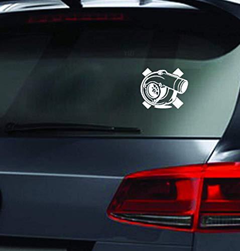 Sticker Adesivi Auto 15.2cmx13.2cm adesivo per finestra per camion per auto adesivo per auto divertente caricabatterie turbo per adesivo per finestra per laptop per auto